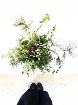 Greenery Arrangement inspired by Bonsai
