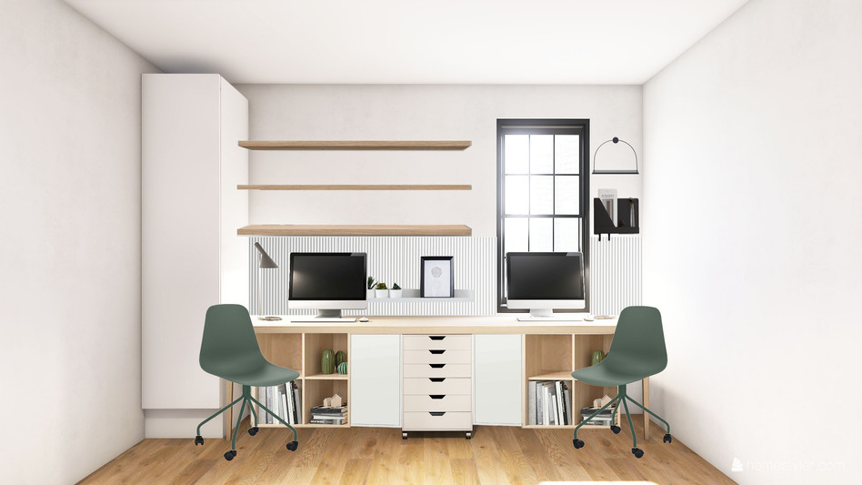 Brooklyn Home office green x natural