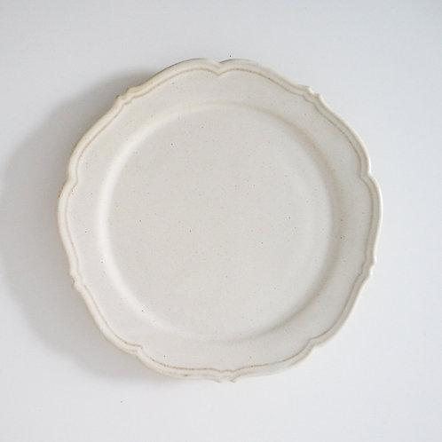 RINKA Rim Dinner Plate, Hakuji White