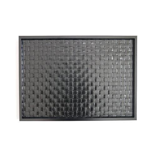 YOTSUME grid woven BLACK BAMBOO TRAY