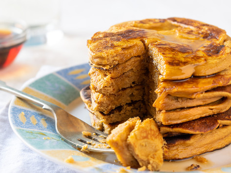 Sweet Potato Pancakes by Stacey Antine, MS, RDN