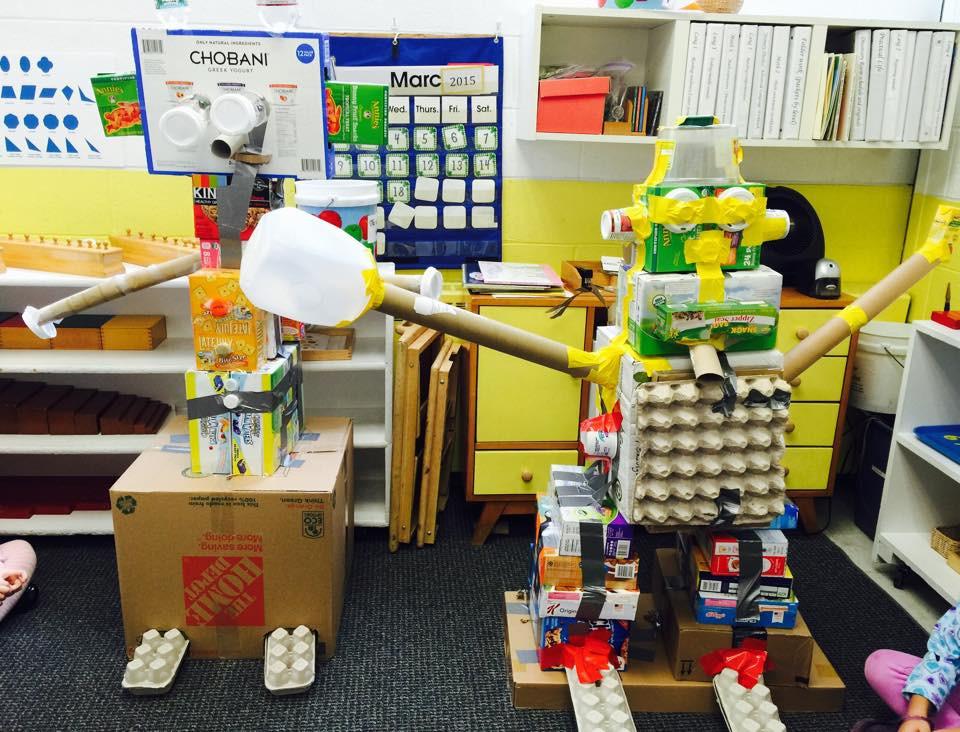 Recycled Robots, Montessori Learning Center Ridgewood NJ