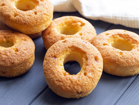 Homemade Peach Donuts by Stacey Antine, MS, RD