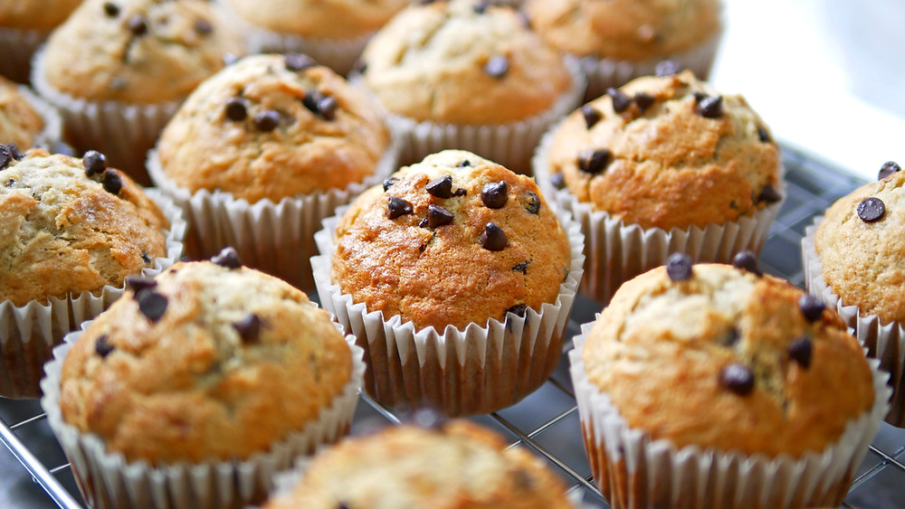 Banana Chocolate Chip Mini Muffins by Stacey Antine, MS, RDN, Bergen County Moms