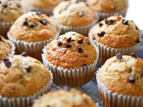 Banana Chocolate Chip Mini Muffins by Stacey Antine, MS, RDN