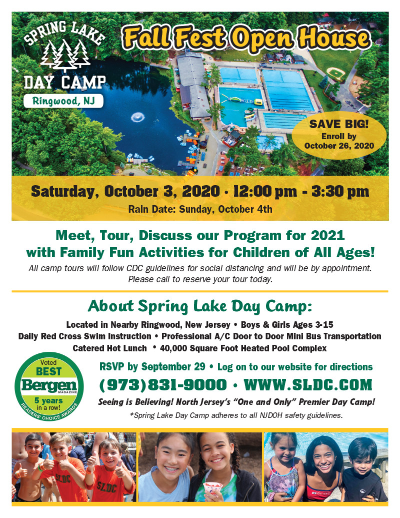 Spring Lake Day Camp Fall Fest Open House Oct 3rd - It's a Must See! Bergen County Moms