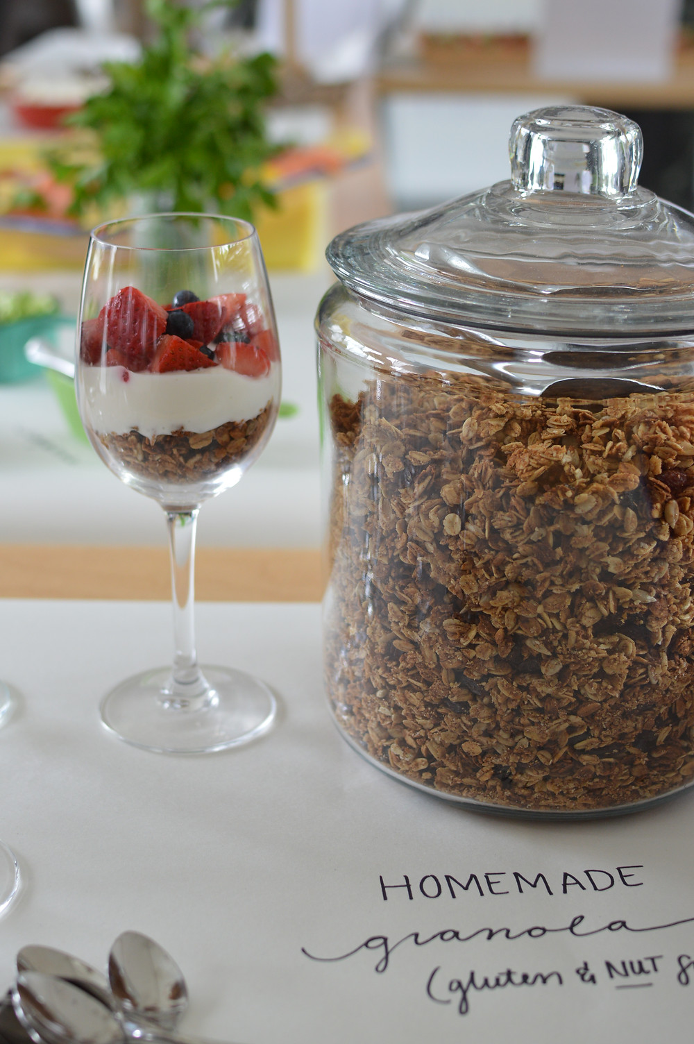 Homemade Crunchy Granola with Walnuts by Stacey Antine, #RidgewoodMoms