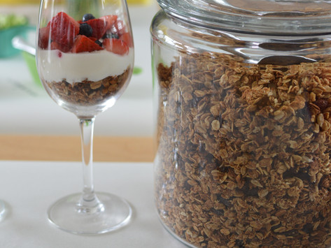 Homemade Crunchy Granola with Walnuts by Stacey Antine, MS, RD