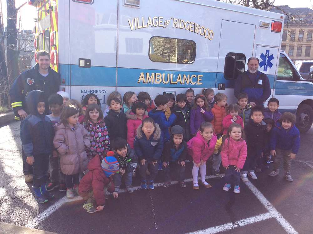 Visit with the Ambulance, Montessori Learning Center
