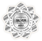 PowHER Network Corporate Partner, PowHER Network Silver Award, PowHER Network Platinum Award, PowHER Network Gold Award