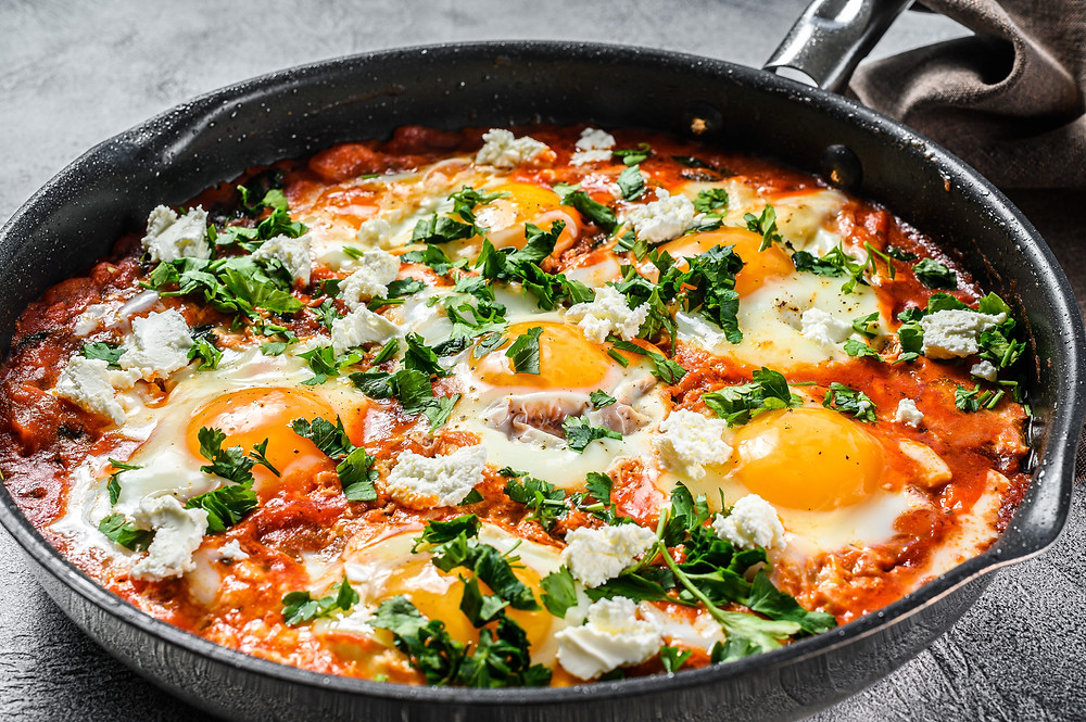 Garden-Style Shakshuka by Stacey Antine MS, RDN, Bergen County Moms