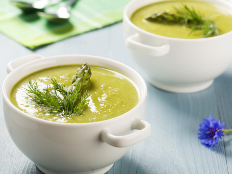 Creamy Asparagus Soup by Stacey Antine MS, RDN