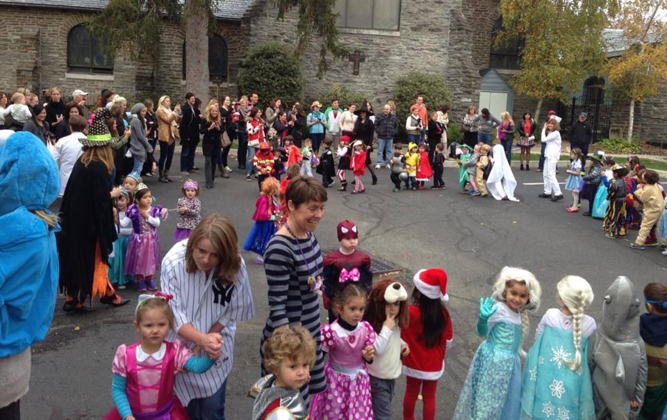Montessori Learning Center Halloween Parade in Ridgewood, NJ