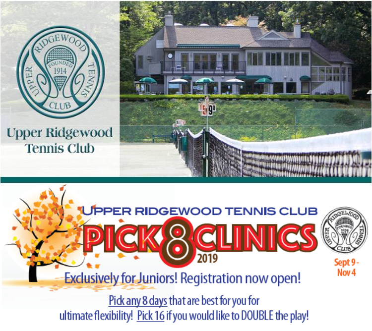 URTC Junior Fall Tennis Clinics Start September 9th, Bergen County Moms