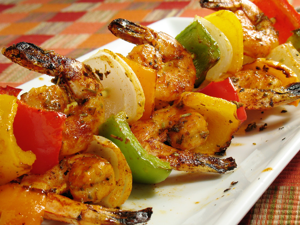 Father's Day Citrus and Herb Shrimp Kabobs by Stacey Antine MS, RDN, Bergen County Moms