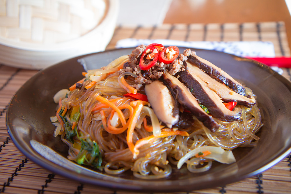 Japchae Veggie Stir-Fry by Stacey Antine, MS, RDN, Bergen County Moms