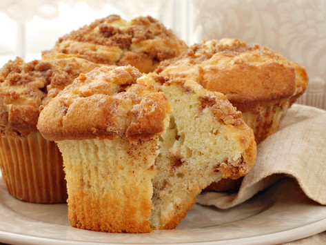 Mini Coffee Cakes with Flaxseed Walnut Streusel by Stacey Antine, MS, RD