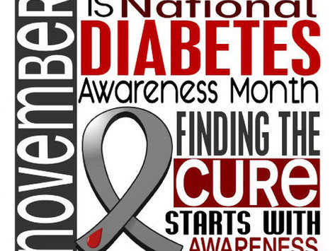 November is National Diabetes Month + Be the Healthiest You Event