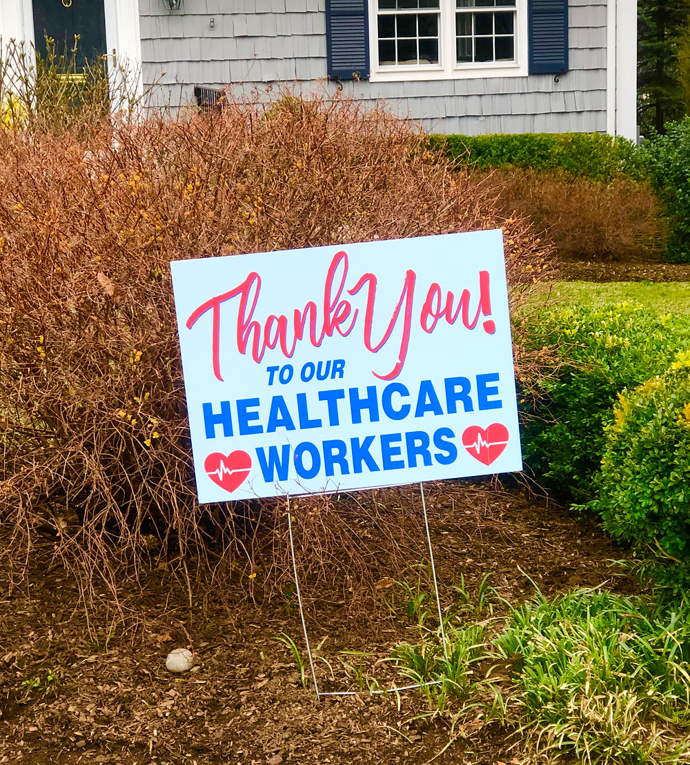 Thank You to Our Healthcare Workers Yard Signs, Bergen County Moms
