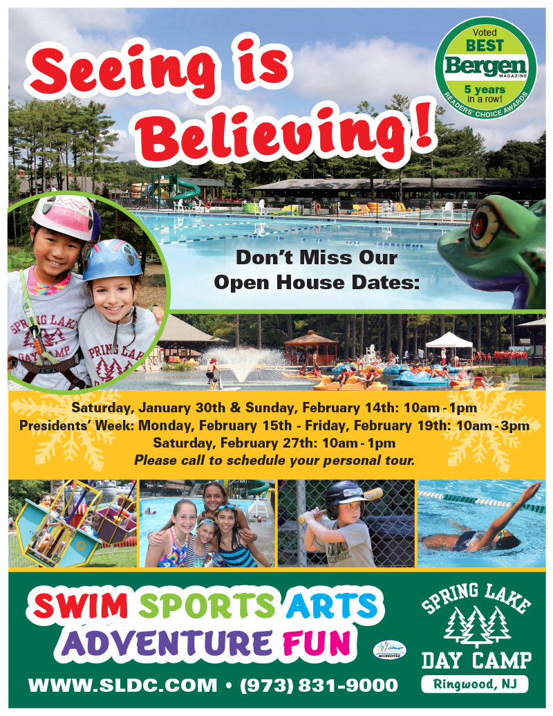 Spring Lake Day Camp Open House Jan 30th- It's a Must See!, Bergen County Moms
