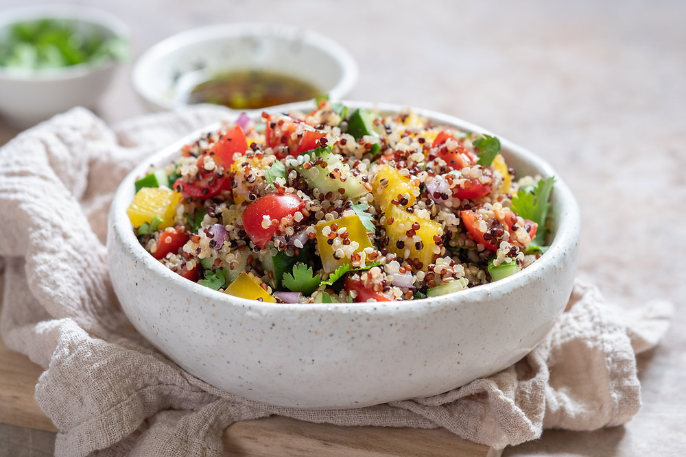 Rainbow Quinoa Salad by Stacey Antine, MS, RD, Bergen County Moms