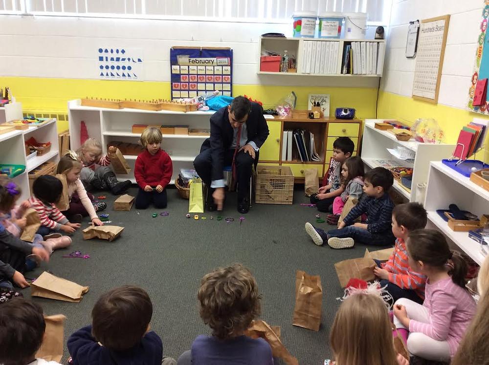 Occupation Week: Mr. Winnert, Investment Banker, Montessori Learning Center Ridgewood