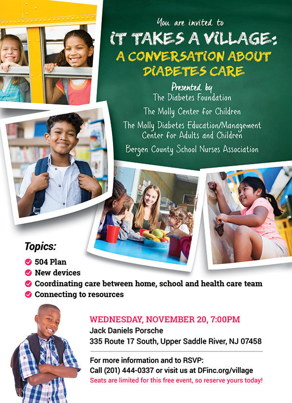 It Takes a Village: A Conversation About Diabetes Care (Free Event), Bergen County Moms