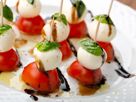 Caprese Salad on a Stick by Stacey Antine, MS, RDN