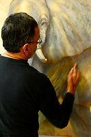 Pablo Shine in his studio