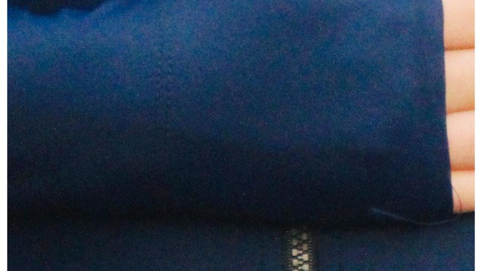 TALLOW zip front long sleeve UPF50+ rash top I MIDNIGHT BLUE regenerated