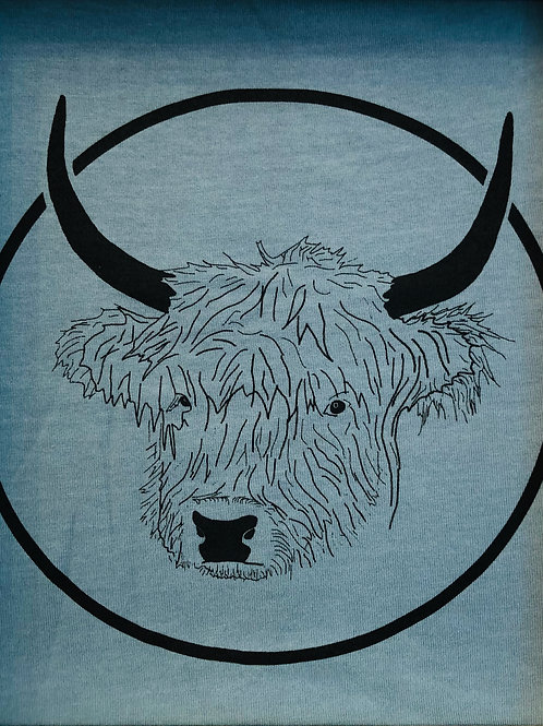Organic Cotton Slate on Citadel Blue No Bull Short Sleeve Tee