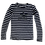 Thumbnail: Organic Cotton Slate Bike Guy on Navy/White Long Sleeve Stripey Tee