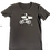 Thumbnail: Organic Cotton Slate on Anthracite Bike Guy Short Sleeve Tee