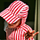 Thumbnail: KIDS EXTREME HOODIE I Red+White Stripe