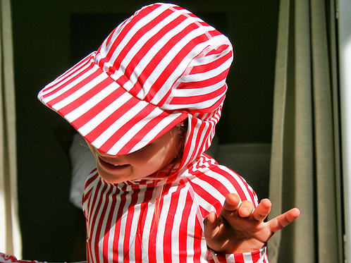 KIDS EXTREME HOODIE I Red+White Stripe