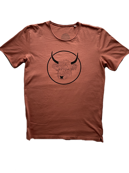 Organic Cotton Slate on Salty Rose No Bull Short Sleeve Tee