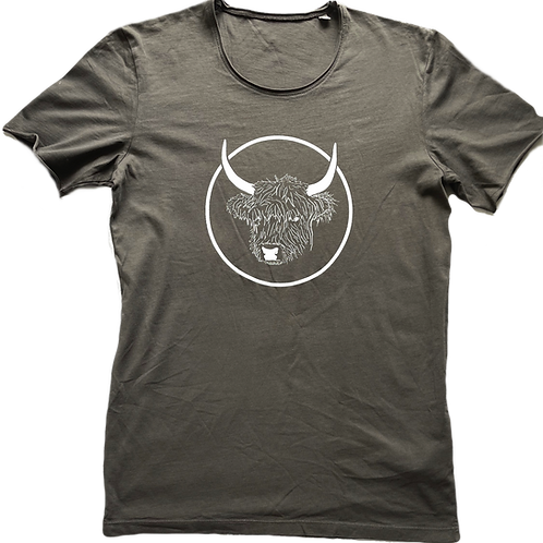 Organic Cotton Slate on Anthracite No Bull Short Sleeve Tee