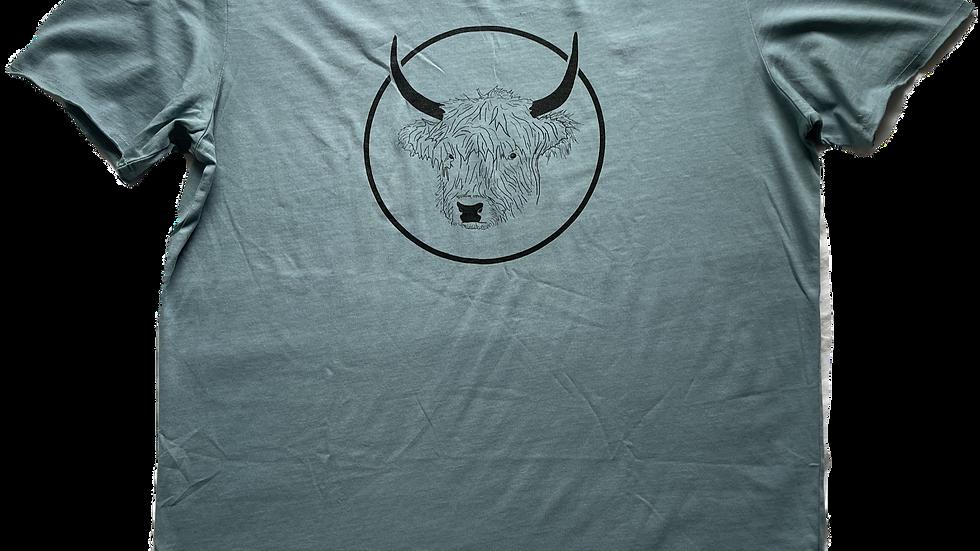 Organic Cotton Slate on Citadel Blue No Bull Short Sleeve Tee