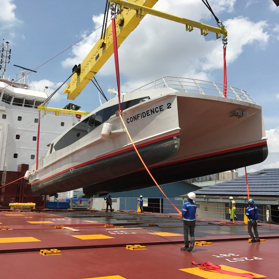 HANDLING AND FREIGHTAGE OF JET PROPELLED CATAMARANS FROM SINGAPORE TO NIGERIA
