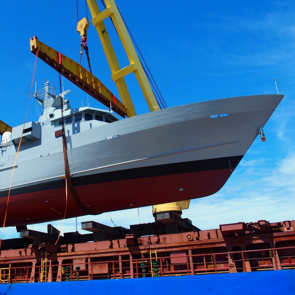 CHARTERING OF HEAVYLIFT VESSELS FOR THE SHORE-SEA MOBILIZATION OF 250 TON NAVAL PATROL CRAFT
