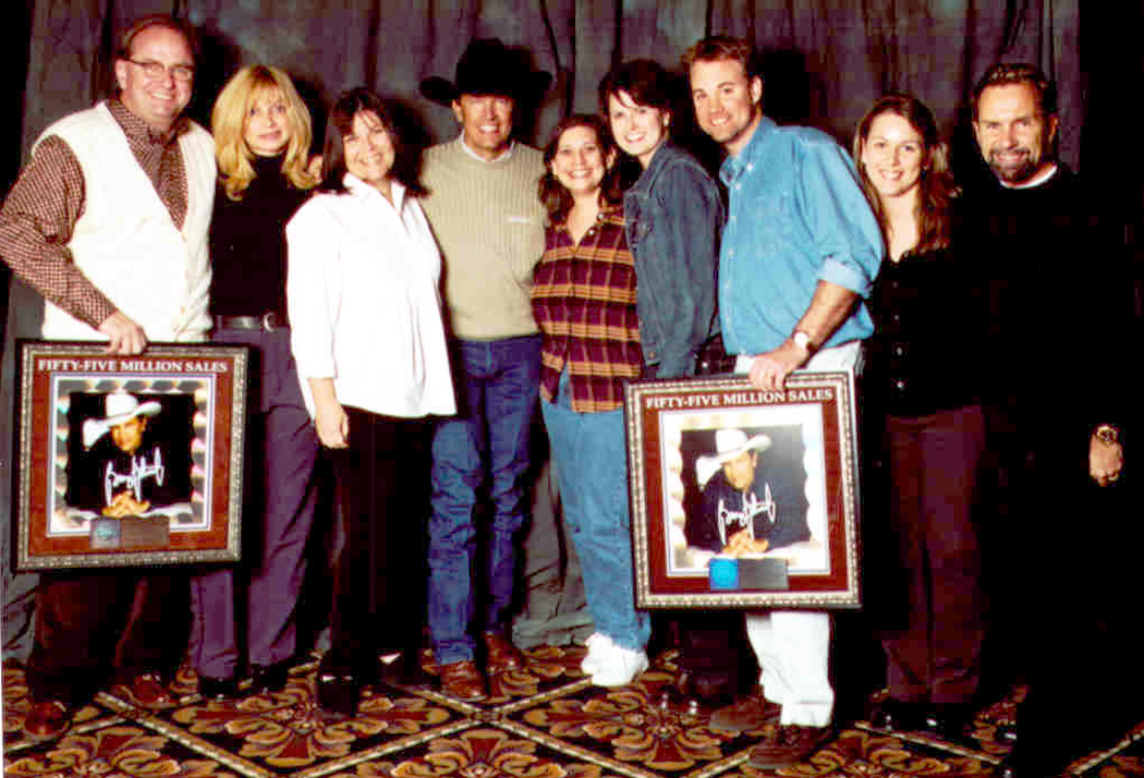 MCA A&R dept with George Strait 2000