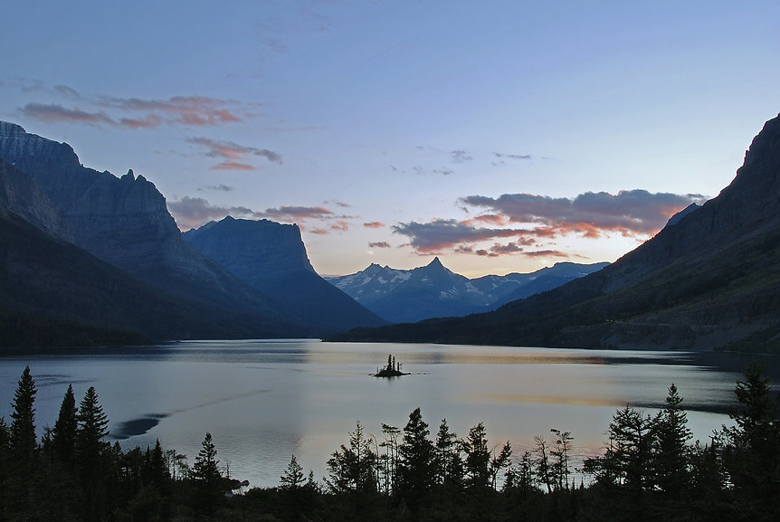 Naimul Karim Naim personal website photography Glacier National Park Montana dusk Saint Mary Lake Wild Goose Island