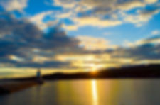 Naimul Karim Naim personal website photgraphy Minnesota Lake Superior Grand Marais golden sunset dusk panorama lighthouse