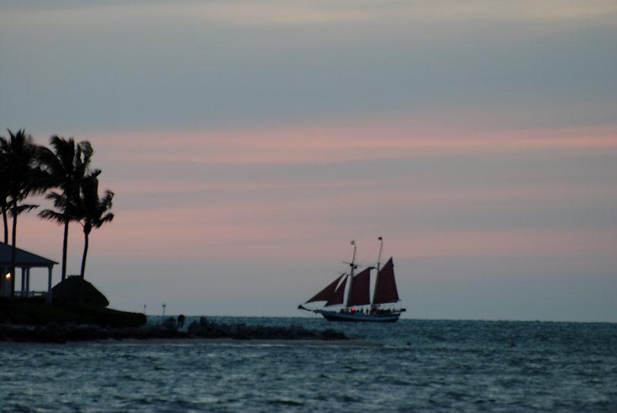 Naimul Karim Naim personal website photography Mallory Square Key West Florida dusk sunset sailship palm tree