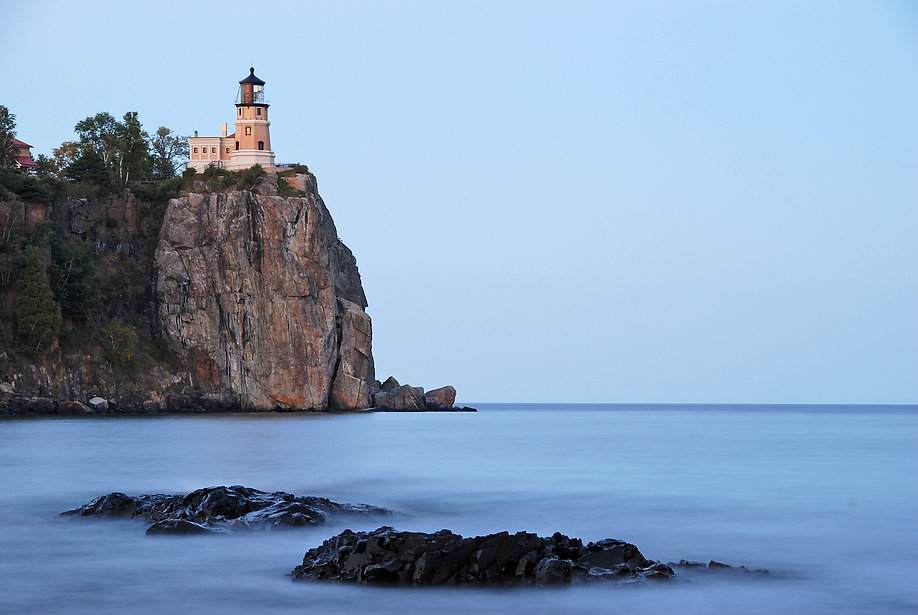 Naimul Karim Naim personal website photgraphy Minnesota split rock lighthouse calm evening Lake Superior