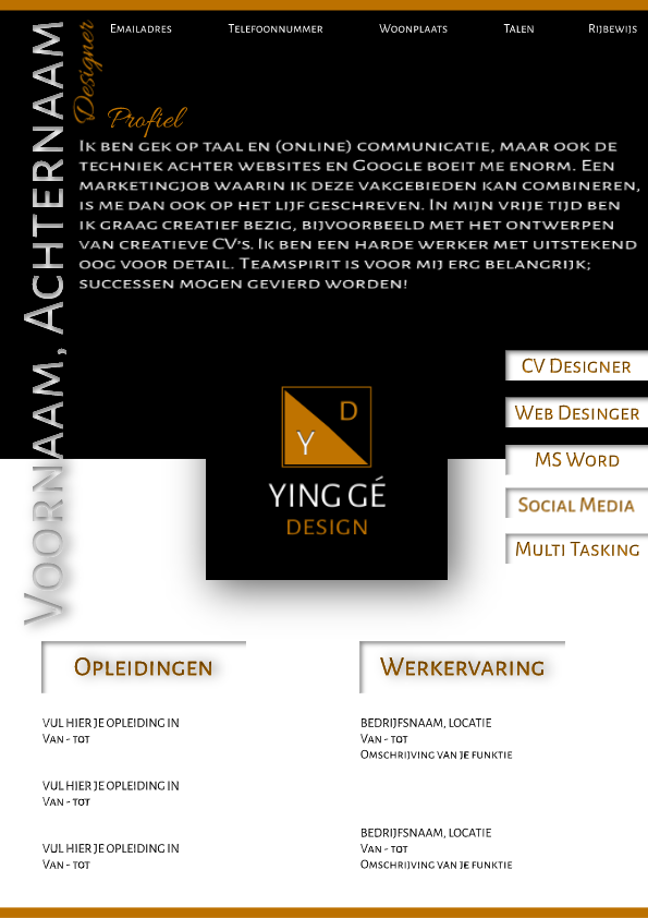 Black - Orange CV