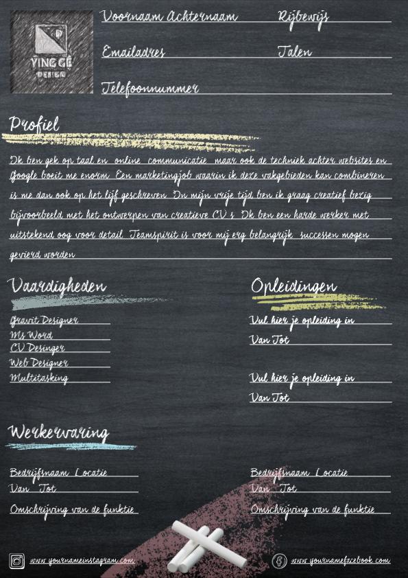 Schoolbord CV