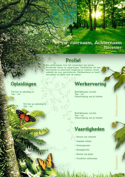 Hovenier / Natuur CV