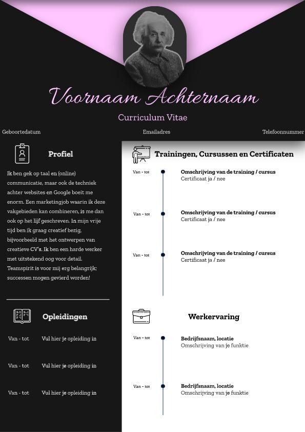 Zwart-Roze CV