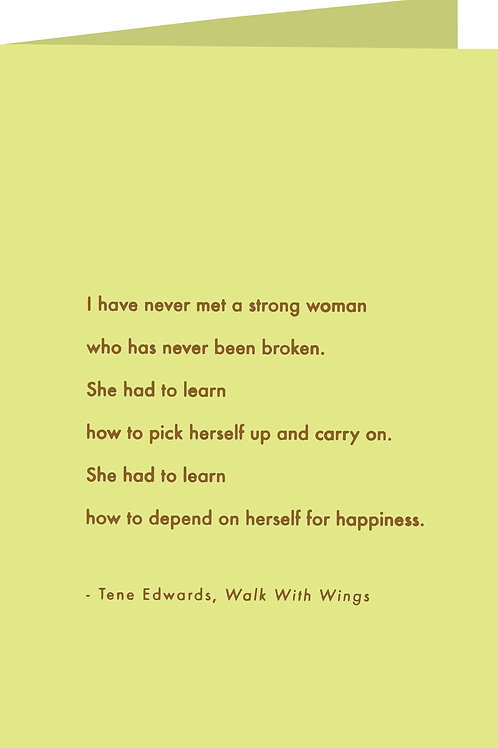 Woman of Strength - Greeting Card